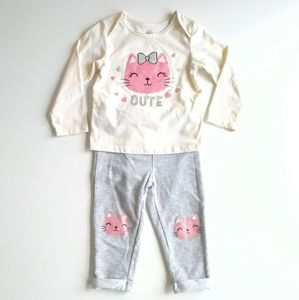 Flawed Grey/off-white w/ Pink fitter cat Outfit